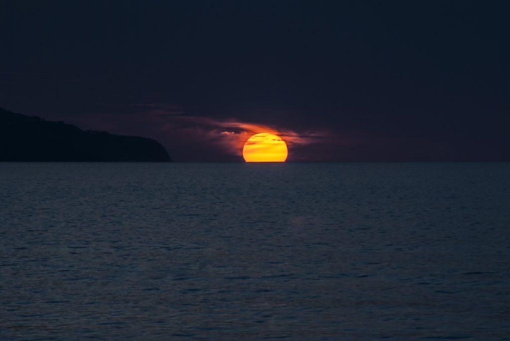 Portugalsko, západ slunce